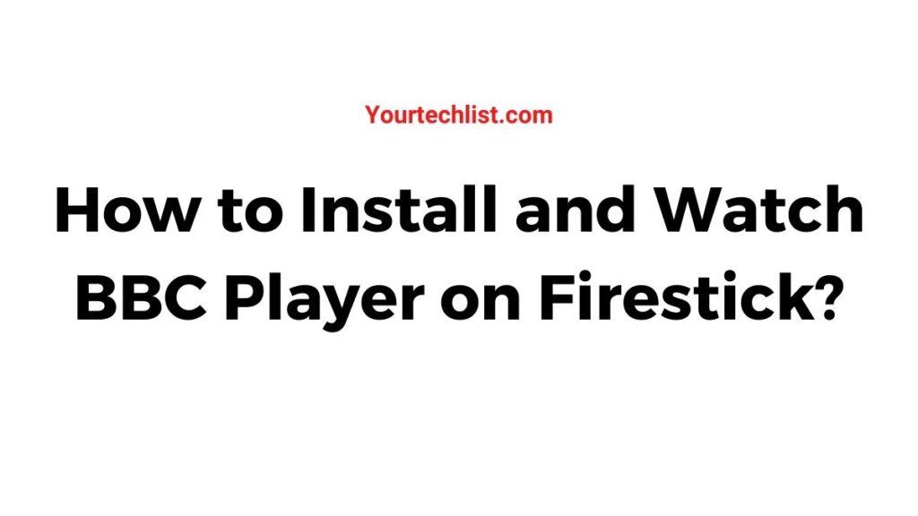 BBC iPlayer on Firestick