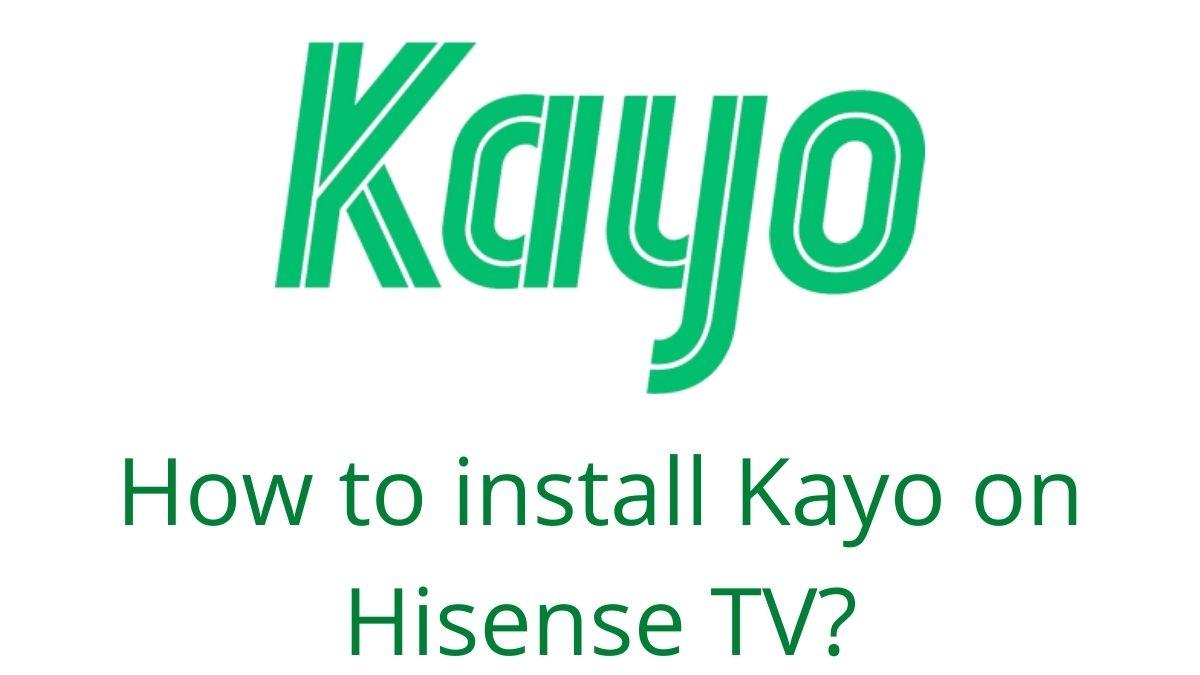 Kayo on Hisense TV